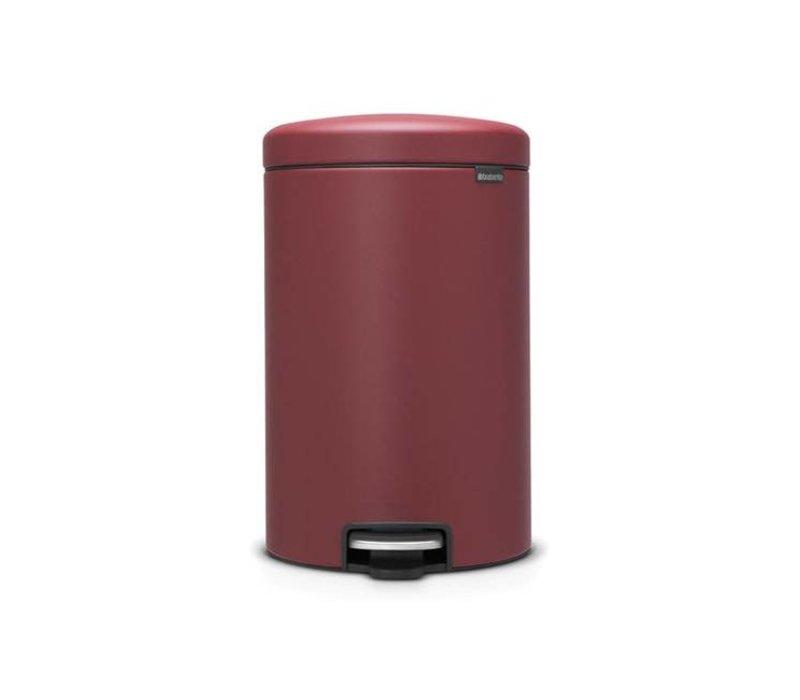 Brabantia Pedaalemmer 20l.Brabantia Brabantia Pedaalemmer Newicon 20 L Mineral Windsor Red