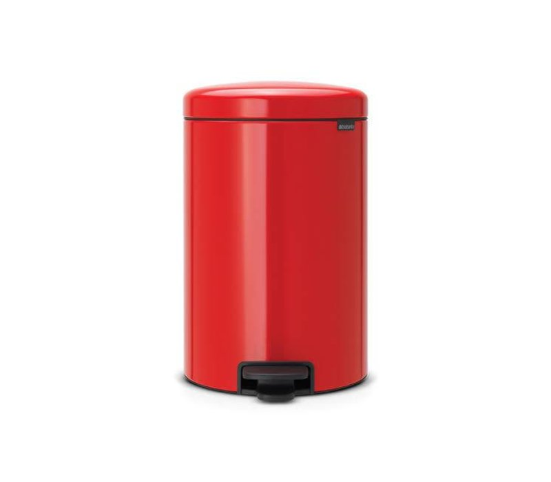 Brabantia 20 Liter Pedaalemmer.Brabantia Brabantia Pedaalemmer Newicon 20 L Passion Red