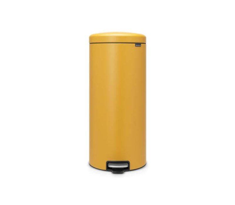Brabantia 30 Liter Afvalemmer.Brabantia Pedaalemmer Newicon 30 L Mineral Mustard Yellow