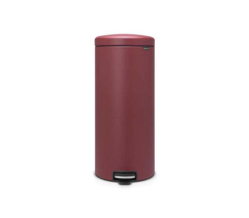 Brabantia Basic Pedaalemmer.Brabantia Brabantia Pedaalemmer Newicon 30 L Mineral Windsor Red