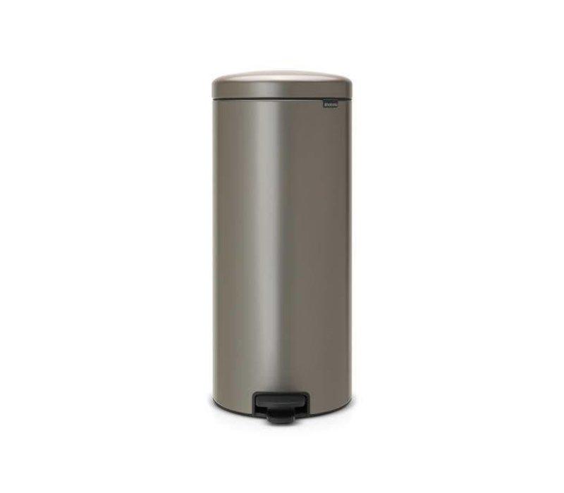 Brabantia 30 Liter Afvalemmer.Brabantia Pedaalemmer Newicon 30 L Platinum Hoge Ramen