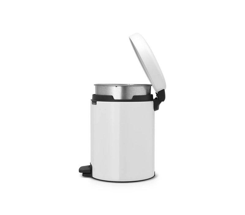 Brabantia - pedaalemmer newicon (5 l) - white (metalen binnenemmer)