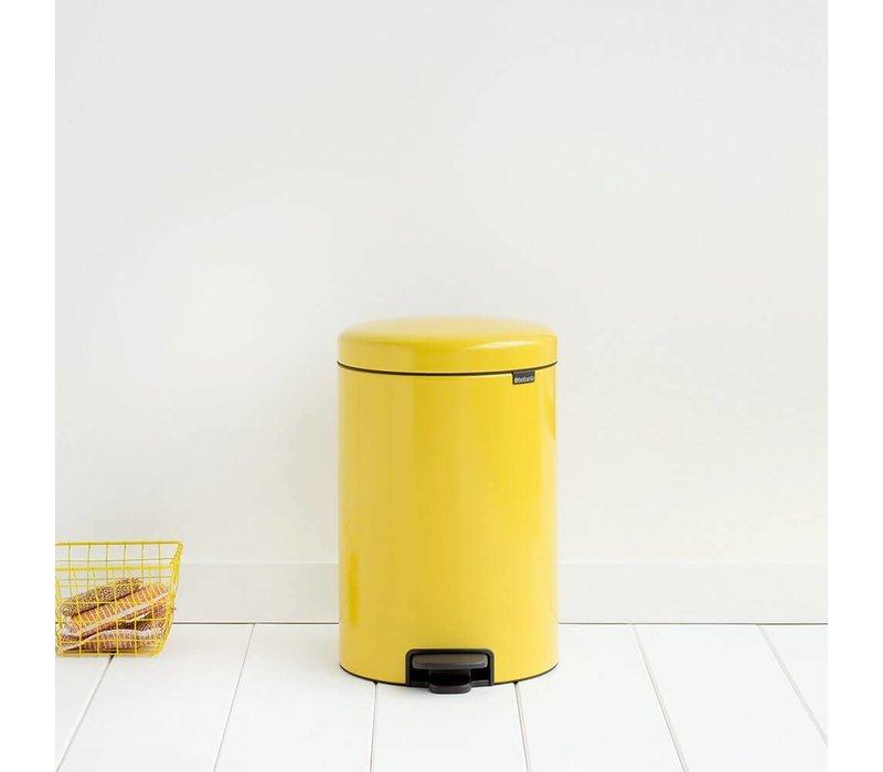 Brabantia Pedaalemmer 20l.Brabantia Pedaalemmer Newicon 20 L Daisy Yellow Hoge Ramen