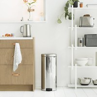 Brabantia - pedaalemmer newicon (30 l) - brilliant steel
