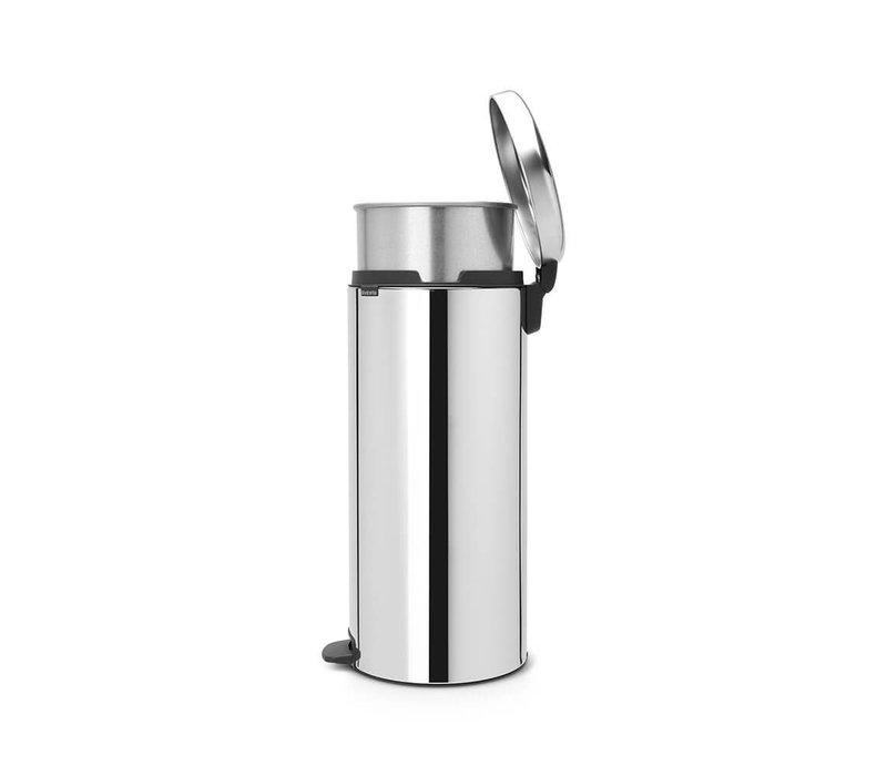 Brabantia - pedaalemmer newicon (30 l) - brilliant steel (metalen binnenemmer)