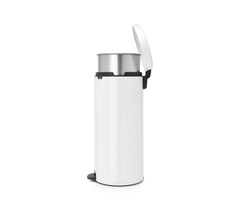 Brabantia - pedaalemmer newicon (30 l) - white (metalen binnenemmer)