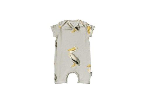 Snurk Snurk - baby playsuit - pelicans