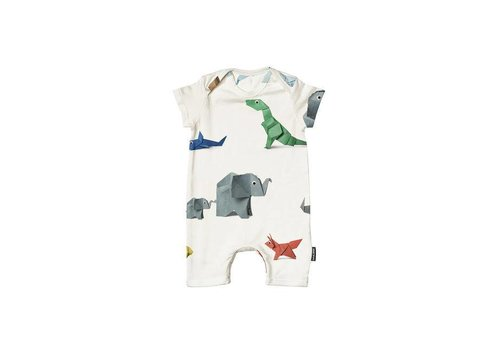 Snurk Snurk - baby playsuit - paper zoo