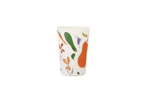 &Klevering &Klevering - yvette van boven bamboe mok - pompoen