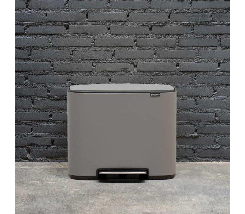 Brabantia - bo pedaalemmer 3 x 11 L - mineral concrete grey