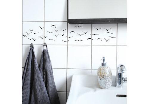 Boubouki Boubouki - tegelsticker - flock (4 tegels)