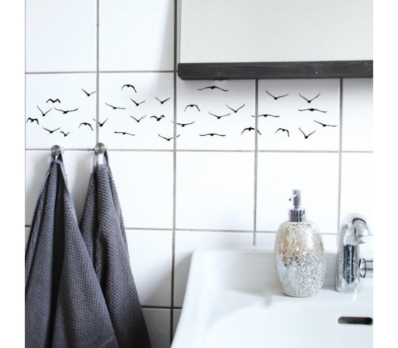Boubouki - tegelsticker - flock (4 tegels)