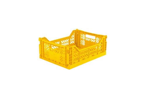Lillemor lifestyle Lillemor lifestyle - opvouwkrat midi - yellow