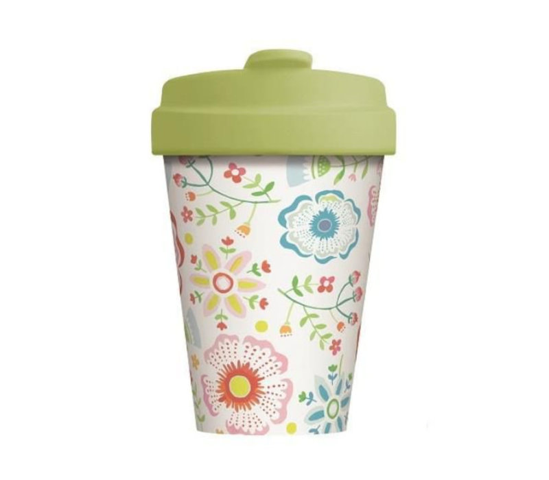 Chic mic - bamboo cup - skandinavian floral