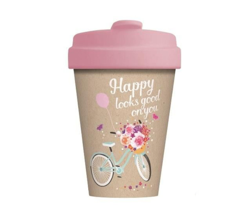 Chic mic - bamboo cup - happy looks good