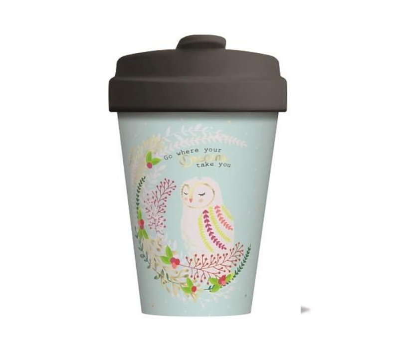 Chic mic - bamboo cup - owl dreams - gold
