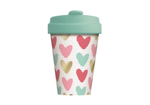Chic mic Chic mic - bamboo cup - happy hearts - gold