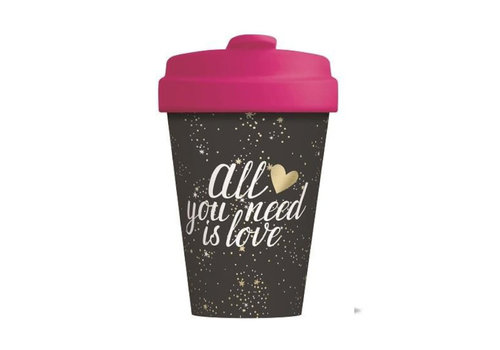 Chic mic Chic mic - bamboo cup - all you need is love - gold