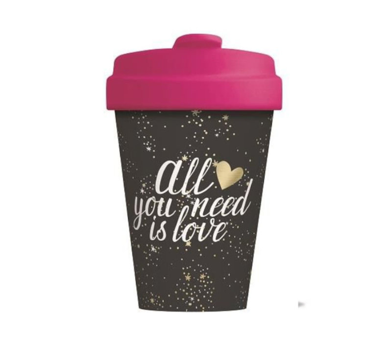 Chic mic - bamboo cup - all you need is love - gold