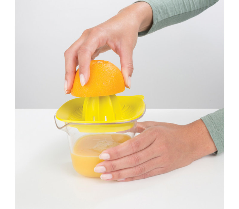Brabantia - citruspers & maatbeker (0,5 l) - yellow
