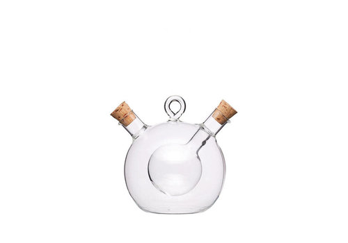 Kitchen Craft Kitchen Craft - olie en azijn fles duo - 350ml/70ml