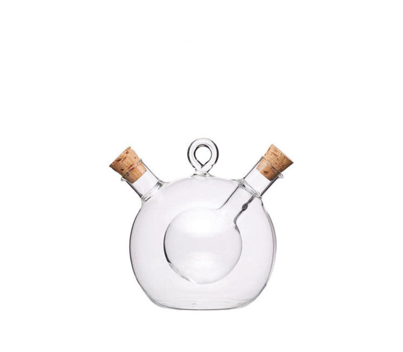 Kitchen Craft - olie en azijn fles duo - 350ml/70ml