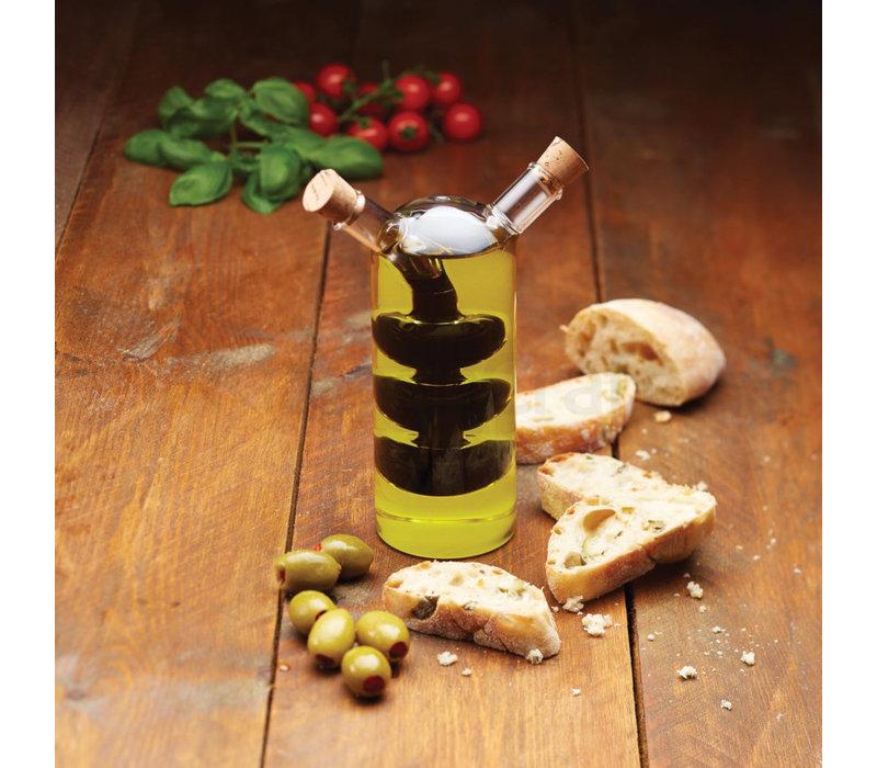 Kitchen Craft - olie en azijn fles duo - 300ml/100ml