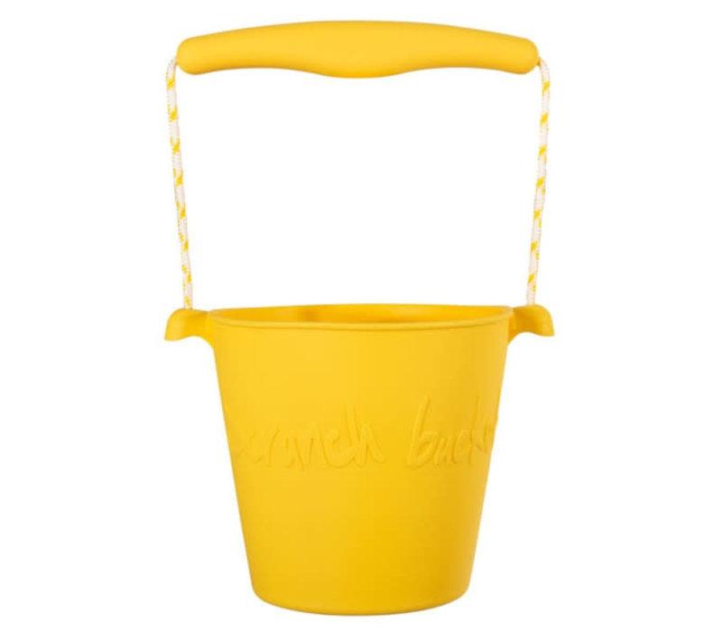 Scrunch - bucket - buttercup yellow