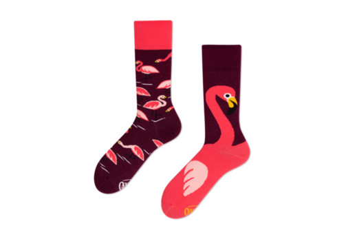 Many mornings Many mornings - sokken - pink flamingo
