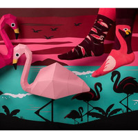 Many mornings - sokken - pink flamingo