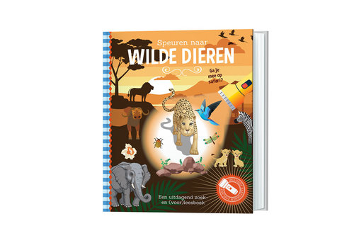 Lantaarn Publishers Lantaarn - zaklampboek - speuren naar wilde dieren