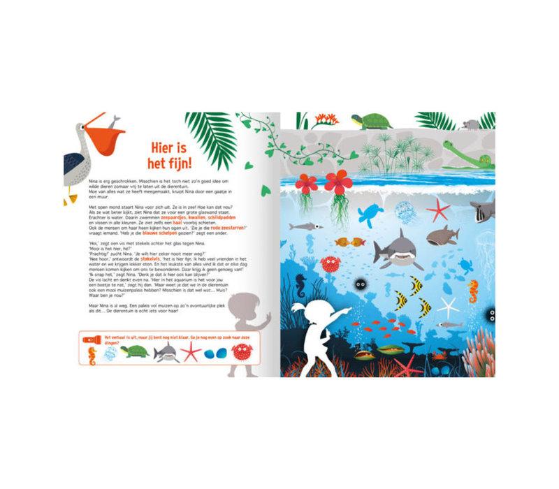 Lantaarn Publishers - zaklampboek - speuren in de dierentuin