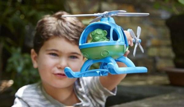 Green Toys helikopter bij de Hoge Ramen
