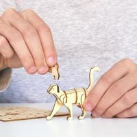 Kikkerland - 3d houten puzzel - kat