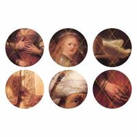 &Klevering - onderzetters - rembrandt (set van 6)