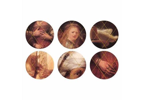 &Klevering &Klevering - onderzetters - rembrandt (set van 6)