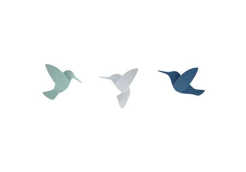 Umbra Umbra - hummingbird - wit, groen, blauw
