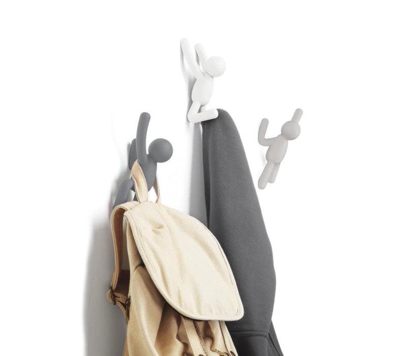 Umbra - buddy haken - wit, grijs en taupe (set van 3)