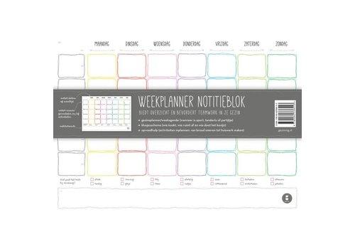 Gezinnig Gezinnig - weekplanner notitieblok