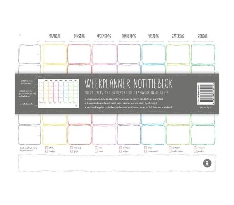 Gezinnig - weekplanner notitieblok