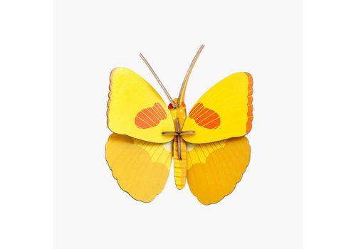 Studio Roof Studio Roof - muurdecoratie - gele vlinder