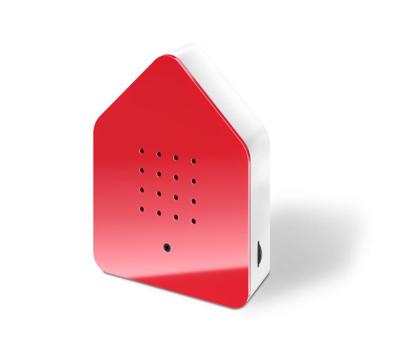 Zwitscherbox - vogelhuis relaxing - rood