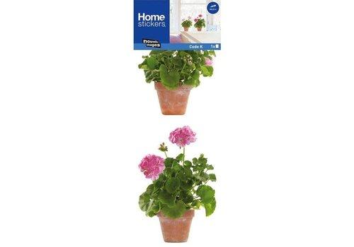 Nouvelles images Nouvelles images - raamsticker - geranium