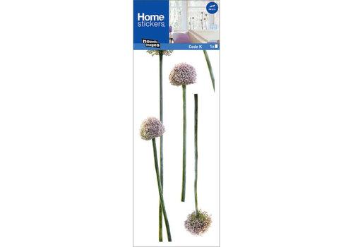 Nouvelles images Nouvelles images - raamsticker - pink garlic