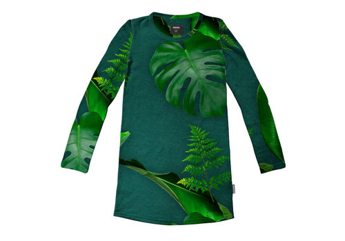 Snurk Snurk - long sleeve dress kids - green forest