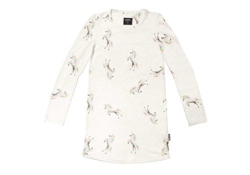 Snurk Snurk - long sleeve dress kids - unicorn white