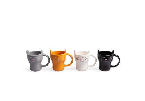 Balvi Balvi - koffiebekers - meow (set van 4)