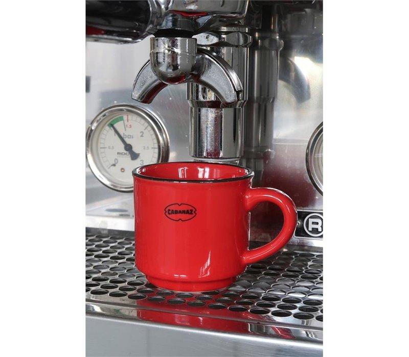 Cabanaz - espresso kop - rood