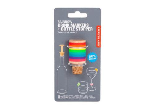 Kikkerland Kikkerland - glas markers en wijnstopper