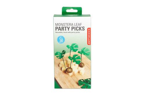 Kikkerland Kikkerland - monstera leaf party picks